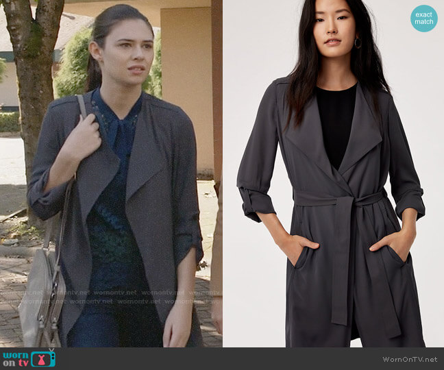 Aritzia Babaton Quincey Jacket in Kinetic worn by Nicole Maines on Supergirl