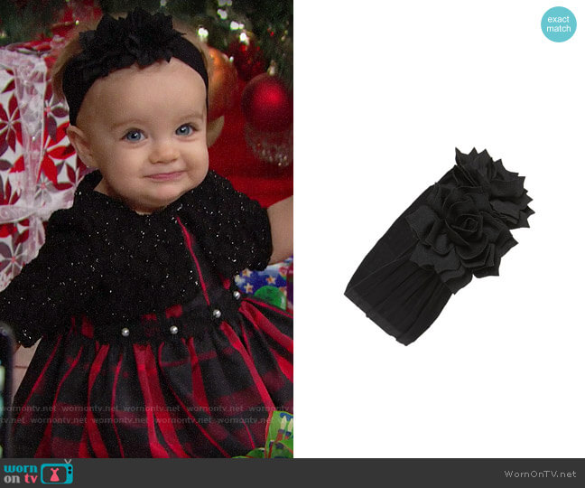 Baby Bling Holiday Poinsettia Flower Headband worn by Kelly on The Bold and the Beautiful