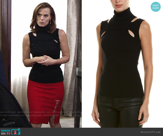 Bailey 44 Exeter Sweater worn by Phyllis Newman (Gina Tognoni) on The Young & the Restless