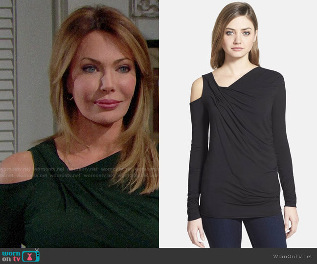 Bailey 44 Victoria Falls Long Sleeve Top worn by Taylor Hayes (Hunter Tylo) on The Bold & the Beautiful