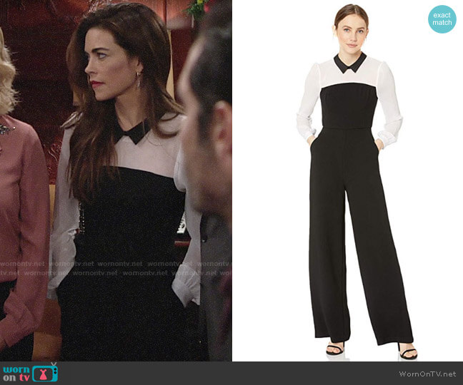 Bcbgeneration Two-fer Shirt Jumpsuit worn by Victoria Newman (Amelia Heinle) on The Young & the Restless