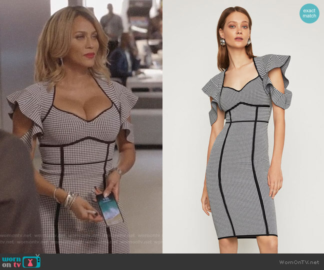 Houndstooth Jacquard Sheath Dress by Bcbgmaxazria worn by Giselle (Nicole Ari Parker) on Empire