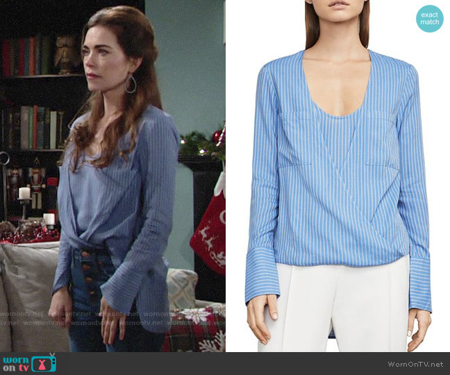 Bcbgmaxazria Ginevra Top worn by Victoria Newman (Amelia Heinle) on The Young & the Restless