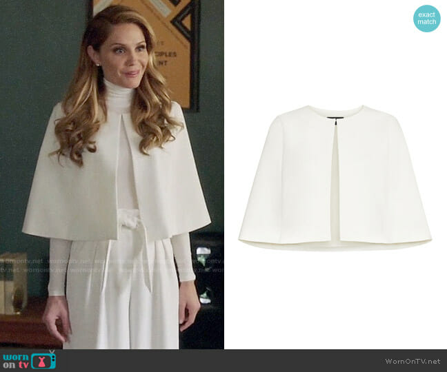 Bcbgmaxazria Short Cape Jacket worn by Charity (Virginia Williams) on Charmed