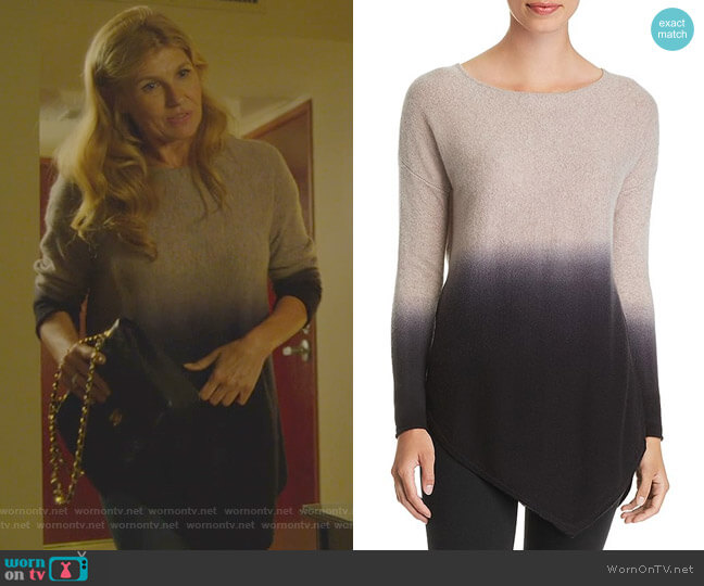 Asymmetric Dip-Dye Cashmere Sweater by C by Bloomingdale's worn by Debra Newell (Connie Britton) on Dirty John