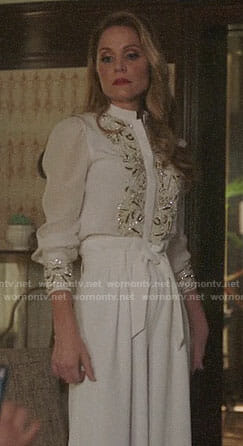 Charity's white embellished blouse on Charmed