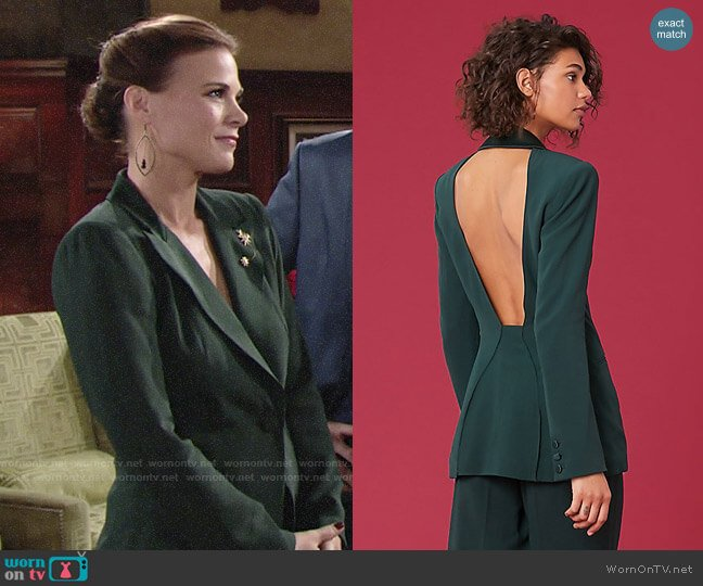 Diane von Furstenberg Collared Blazer worn by Gina Tognoni on The Young & the Restless