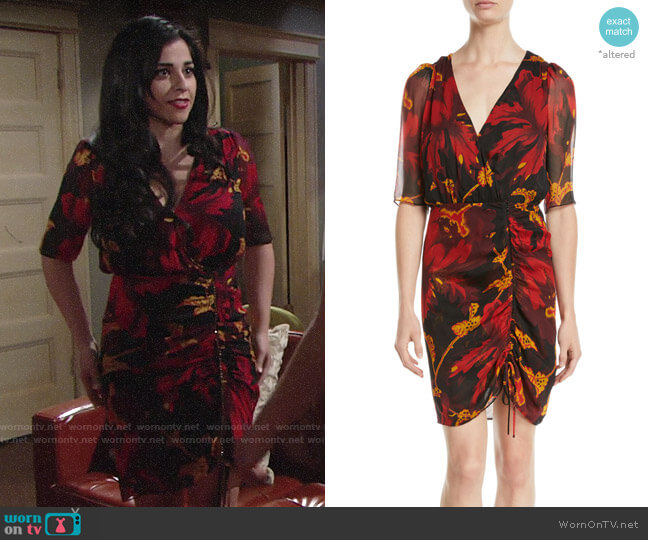 Diane von Furstenberg Kelda Drss worn by Mia Rosales (Noemi Gonzalez) on The Young & the Restless