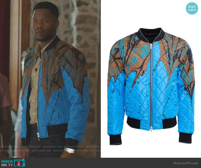 Reversible Bomber Jacket by Dries Van Noten worn by Sam Adegoke on Dynasty