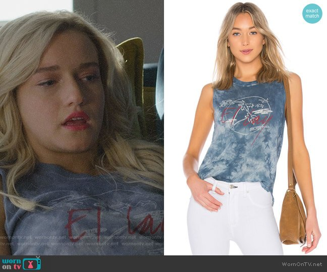 El Lay Muscle Tee by Raquel Allegra worn by Julia Garner on Dirty John