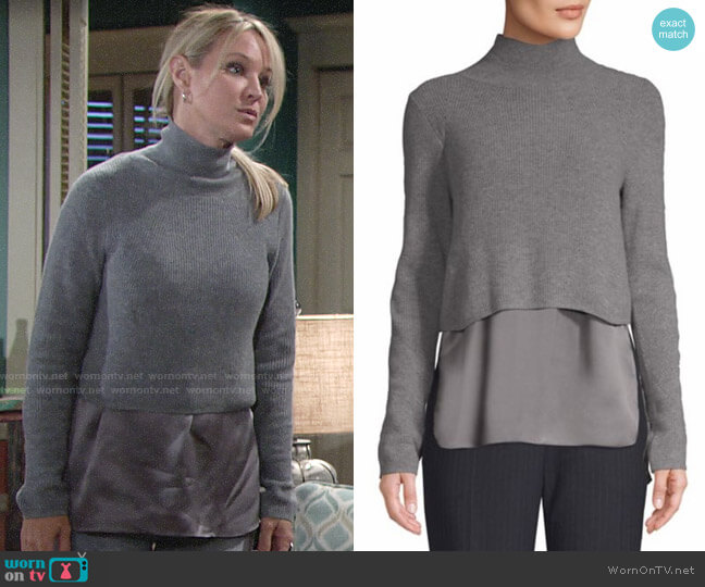 Elie Tahari Casper Sweater worn by Sharon Collins (Sharon Case) on The Young & the Restless