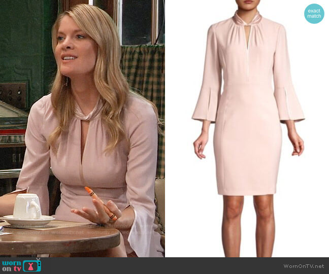 Elie Tahari Dorothea Fluid Crepe Dress worn by Nina Reeves (Michelle Stafford) on General Hospital