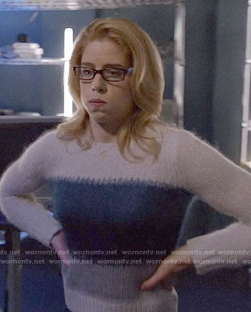 Felicity's striped sweater on Arrow