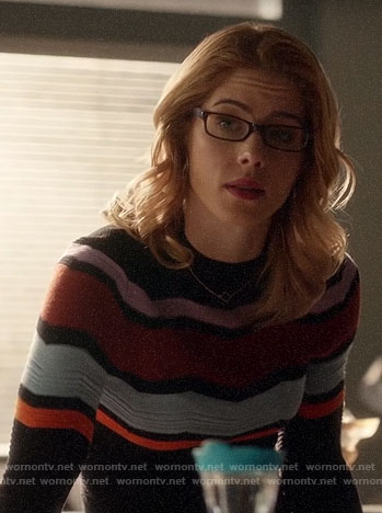 Felicity's chevron sweater on Arrow