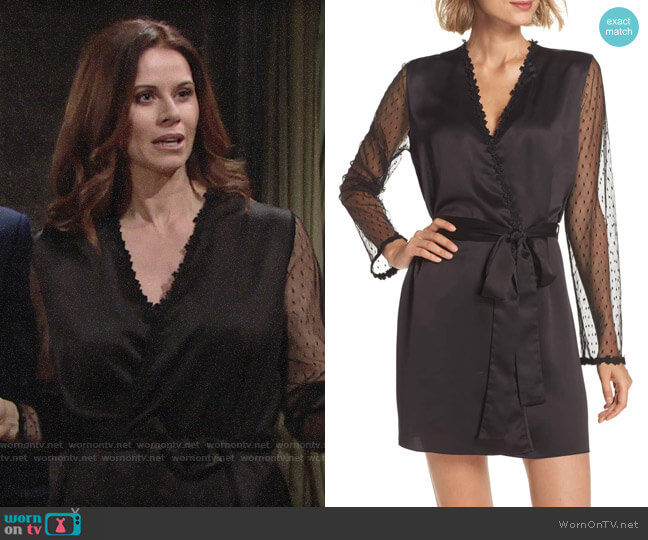 Flora Nikrooz Showstopper Robe worn by Rebecca Barlow (Jennifer Taylor) on The Young & the Restless