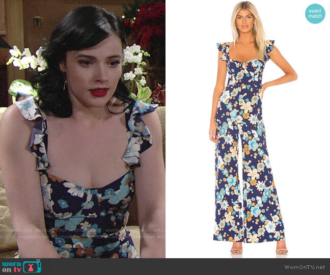 For Love & Lemons Magnolia Jumpsuit worn by Tessa Porter (Cait Fairbanks) on The Young & the Restless