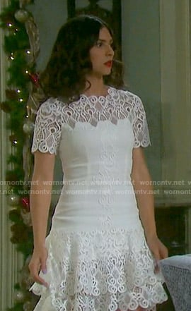 Gabi's white lace tiered dress on Days of our Lives