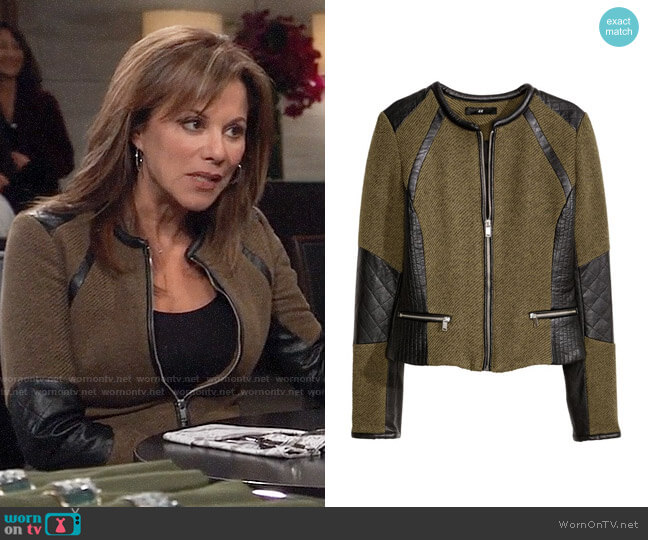 H&M Fitted Jacket worn by Alexis Davis (Nancy Lee Grahn) on General Hospital