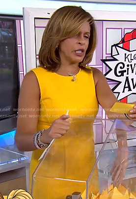 Hoda's yellow sleeveless dress on Today