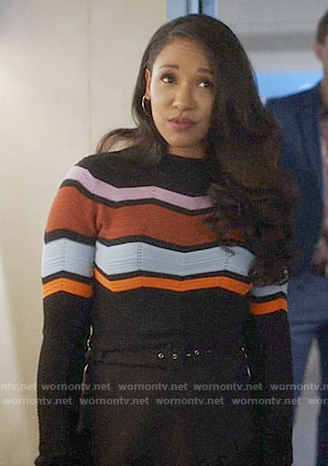 Iris's chevron sweater on The Flash