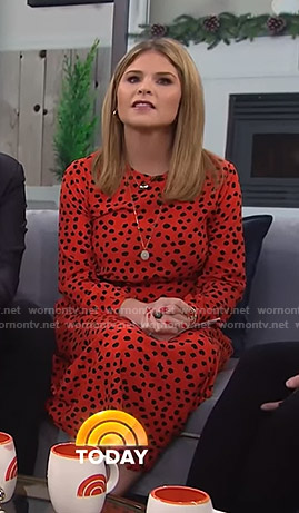 Jenna's orange polka dot midi dress on Today
