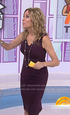 Kathie's purple v-neck sheath dress on Today