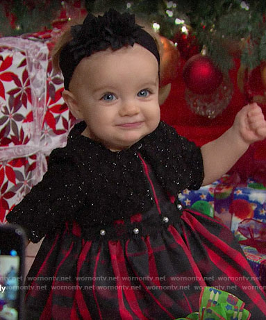 Kelly's Christmas outfit on The Bold and the Beautiful