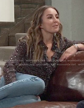 Kristina's star print top on General Hospital