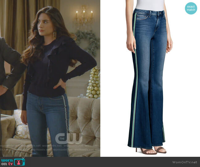 Solana Jeans by L'Agence worn by Cristal Jennings (Ana Brenda Contreras) on Dynasty