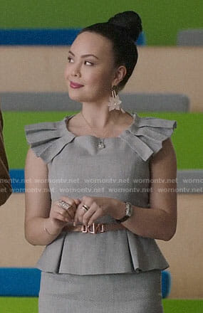 Lainey's grey peplum dress on Charmed