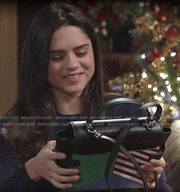 Lola's bag from Kyle for Christmas on The Young and the Restless