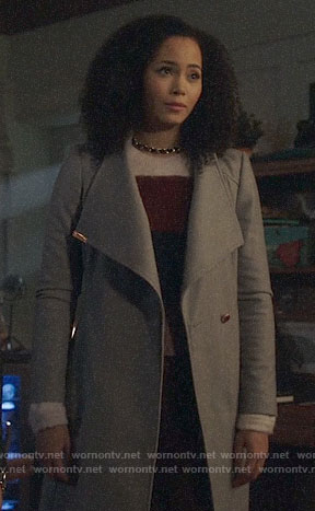 Macy's grey coat on Charmed