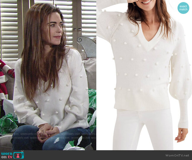 Madewell Bobble Dashwood Sweater worn by Victoria Newman (Amelia Heinle) on The Young & the Restless