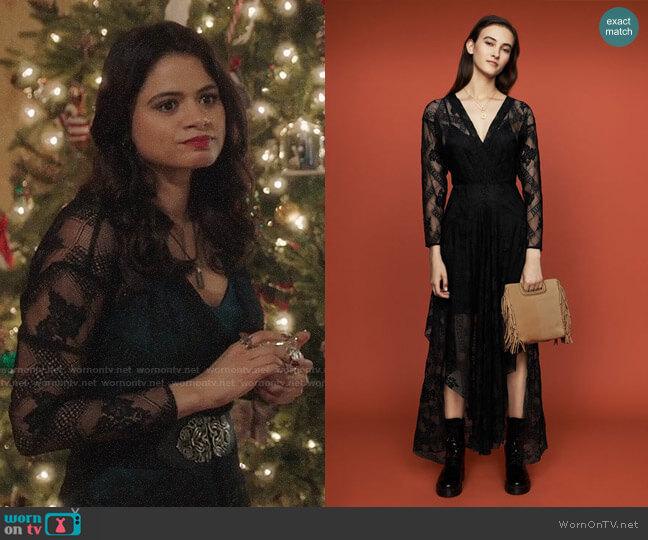 Maje Riletta Dress worn by Mel Vera (Melonie Diaz) on Charmed