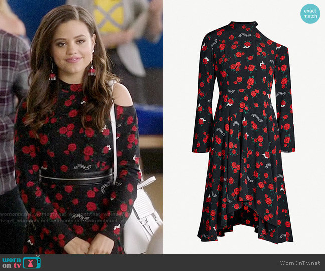 Mo&Co Rose Print Dress worn by Maggie Vera (Sarah Jeffery) on Charmed