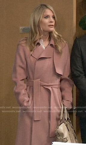 Nina's pink coat on General Hospital