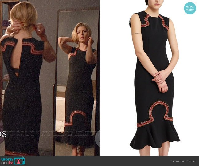 Opening Ceremony Lotus Dress worn by Felicity Smoak (Emily Bett Rickards) on Arrow