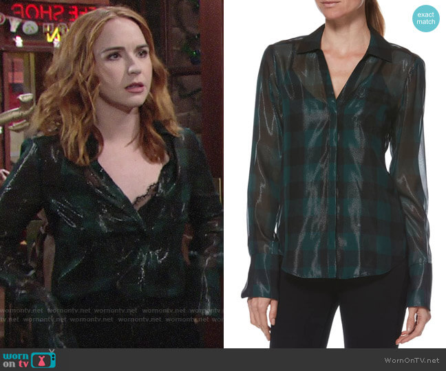 Paige Bevyn Top worn by Mariah Copeland (Camryn Grimes) on The Young & the Restless