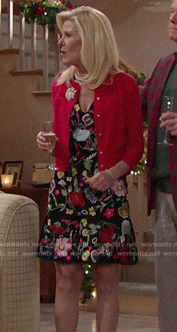 Pam's floral v-neck dress on The Bold and the Beautiful
