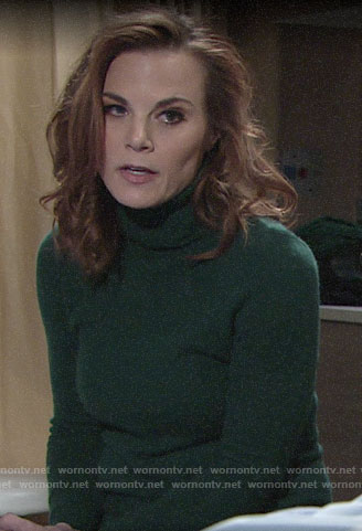 Phyllis's green turtleneck sweater on The Young and the Restless