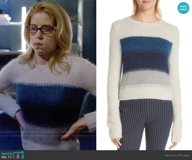 Rag & Bone Holland Sweater worn by Felicity Smoak (Emily Bett Rickards) on Arrow
