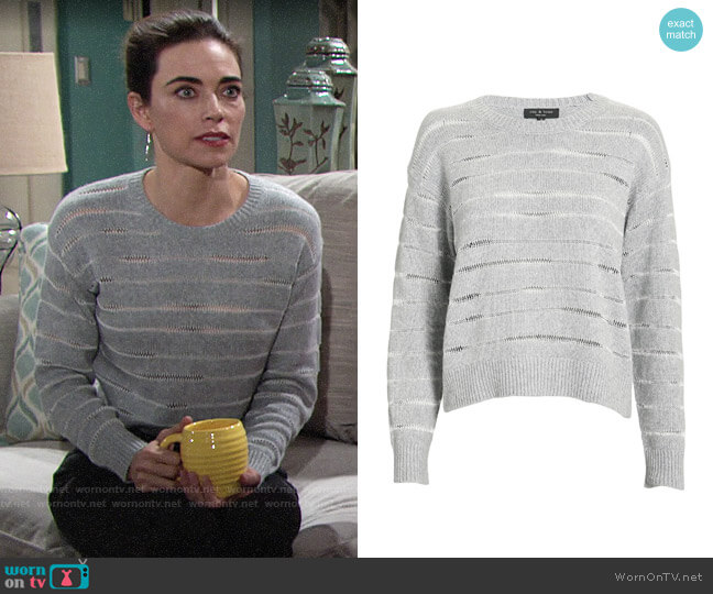 Rag & Bone Penn Sweater worn by Victoria Newman (Amelia Heinle) on The Young & the Restless
