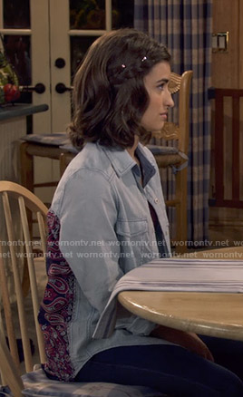 Ramona's bandana print back shirt on Fuller House