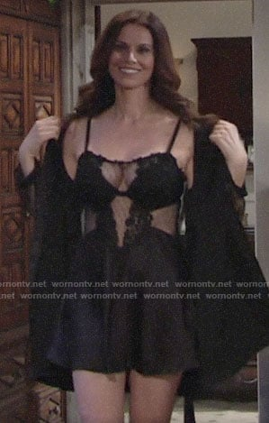 Rebecca's black chemise on The Young and the Restless