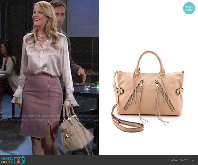 Rebecca Minkoff Large Moto Satchel worn by Nina Reeves (Michelle Stafford) on General Hospital