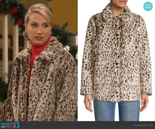 Rebecca Taylor Lynx Faux Fur Jacket worn by Mandy Baxter (Molly McCook) on Last Man Standing