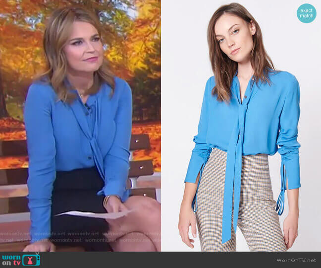 Remi Blouse by Veronica Beard worn by Savannah Guthrie  on Today