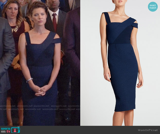 Roland Mouret Elsom Dress worn by Lyla Michaels (Audrey Marie Anderson) on Arrow