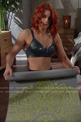 Sally's yoga outfit on The Bold and the Beautiful