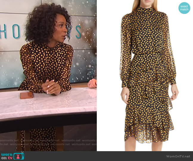 Isa Dress by Saloni worn by Zuri Hall  on E! News